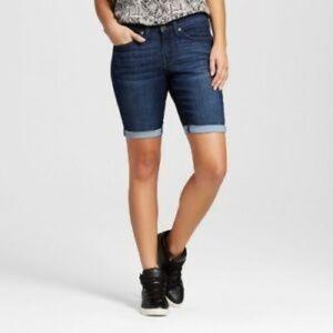 Mossimo Mid Rise Bermuda Jean Shorts